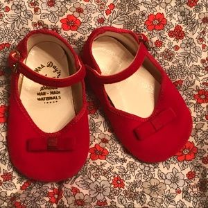 Vintage 1950s Red Baby Girl Shoes